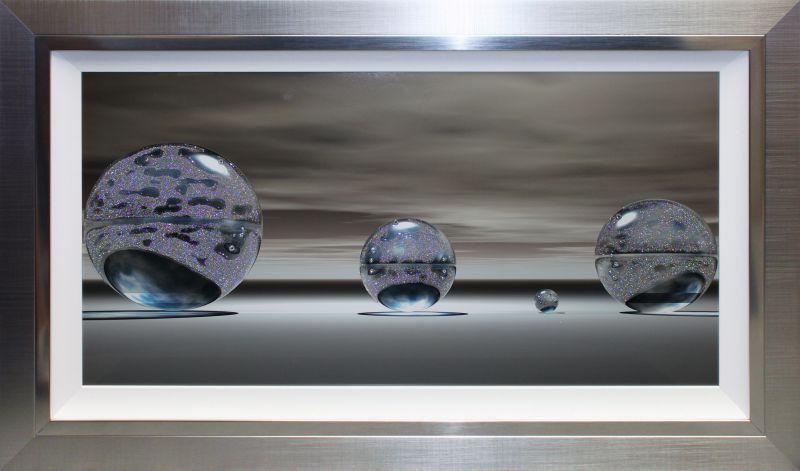 Tableaux art liquide abstrait et conceptuel for Miroir eclat silver